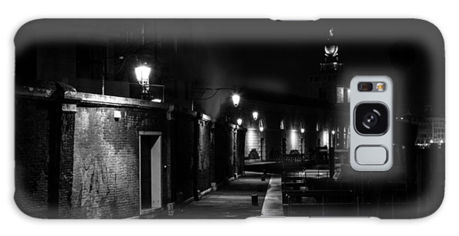 Black And White Photograph Galaxy S8 Case featuring the photograph Salt Warehouse by Bechi Nicola