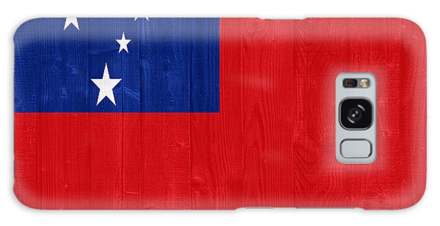 Samoa Galaxy S8 Case featuring the photograph Samoa Flag by Luis Alvarenga