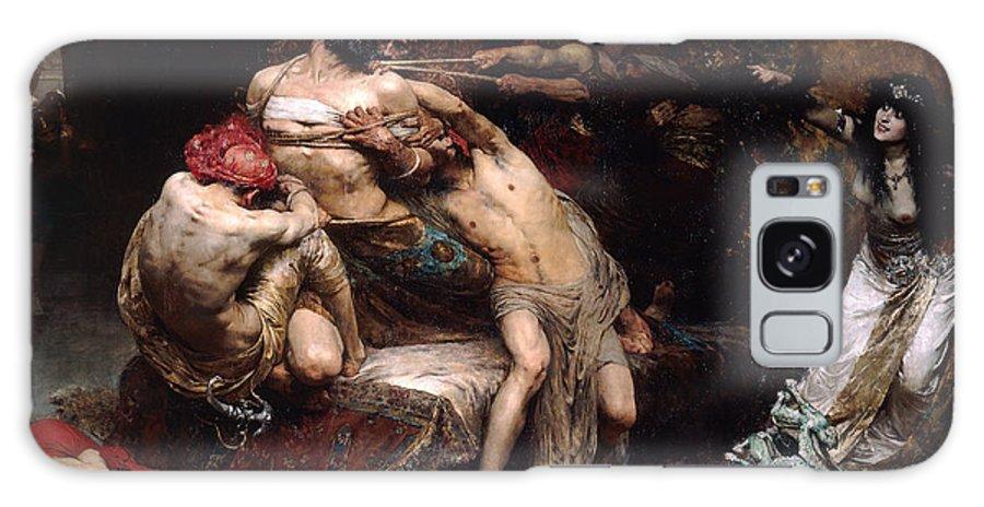 Solomon Joseph Solomon Galaxy S8 Case featuring the painting Samson by Solomon Joseph Solomon