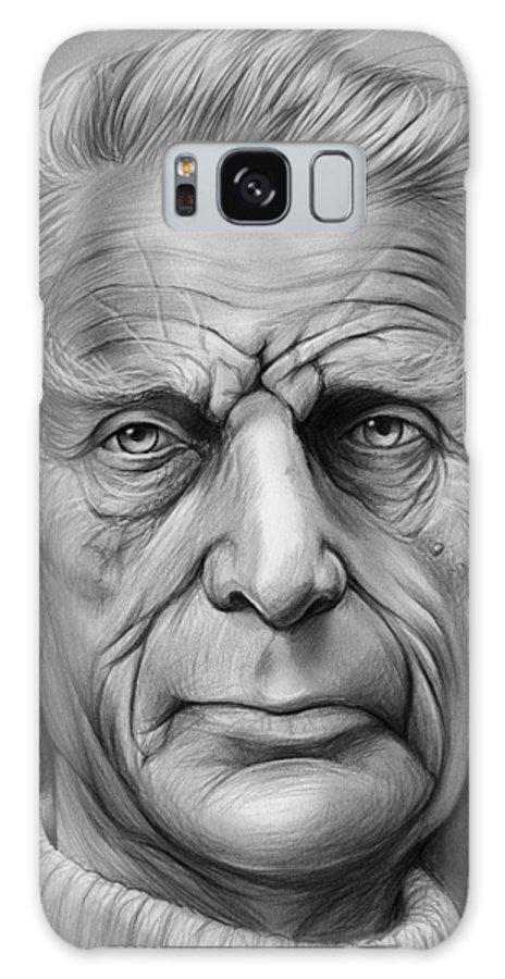 Celebrities Galaxy S8 Case featuring the drawing Samuel Beckett by Greg Joens