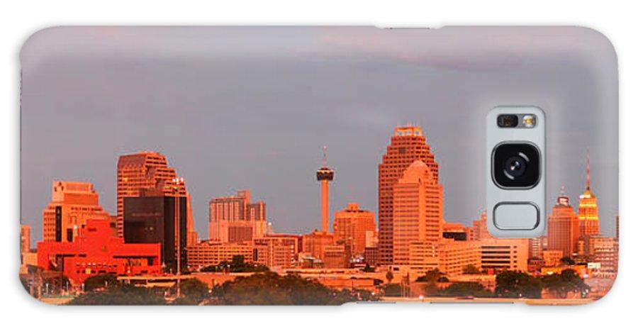 San Antonio Galaxy S8 Case featuring the photograph San Antonio - Skyline At Last Light by Randy Smith
