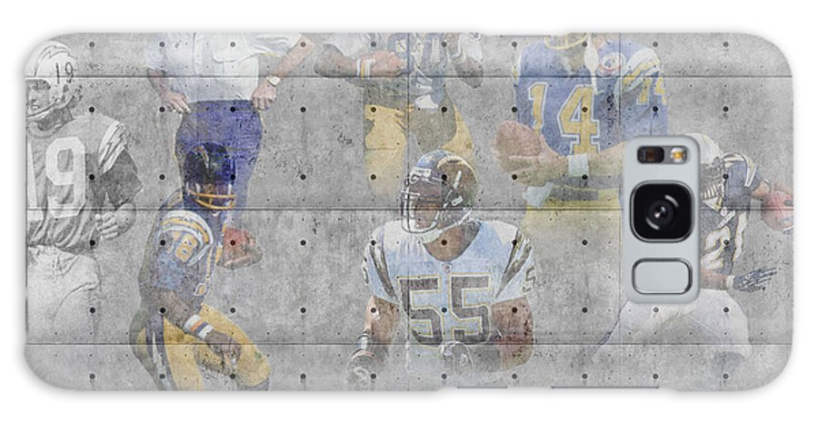 Chargers Galaxy S8 Case featuring the photograph San Diego Chargers Legends by Joe Hamilton