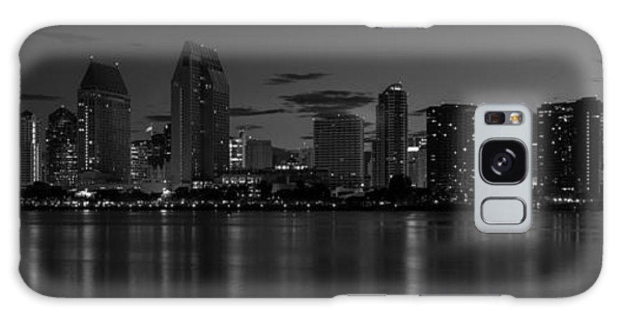 San Diego Galaxy S8 Case featuring the photograph San Diego Skyline Monochrome by Joseph Mcgrady
