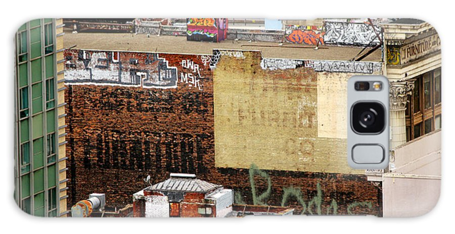 Graffiti Galaxy S8 Case featuring the photograph San Francisco Backstage Graffiti by Cedric Darrigrand