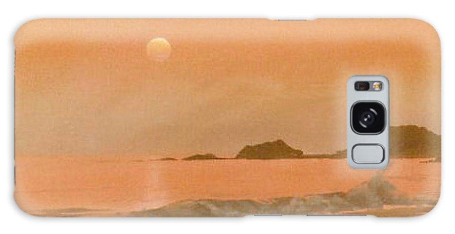 Sunset Galaxy Case featuring the painting San Fransisco sunset by Philip Fleischer
