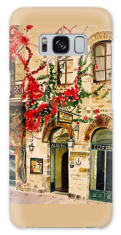 Award-winning Galaxy S8 Case featuring the painting San Gimignano by Judy Swerlick