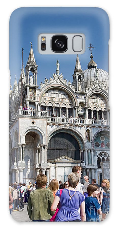 Venice Galaxy S8 Case featuring the photograph San Marco Square by Gabriela Insuratelu