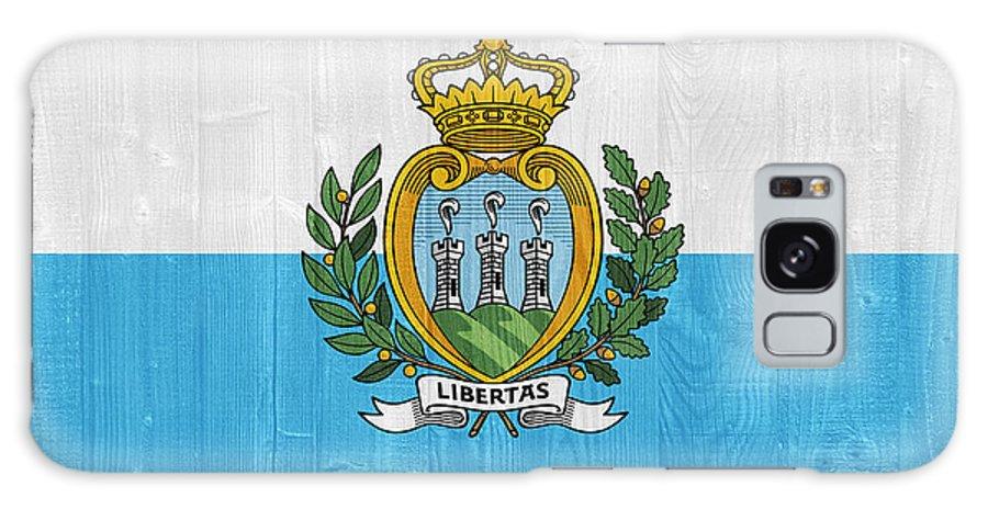 San Galaxy S8 Case featuring the photograph San Marino Flag by Luis Alvarenga