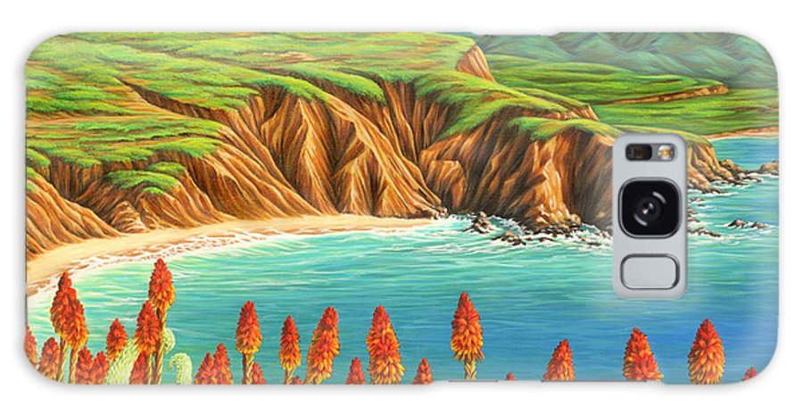 Ocean Galaxy Case featuring the painting San Mateo Springtime by Jane Girardot