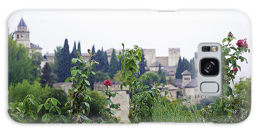 Alhambra Galaxy S8 Case featuring the photograph San Nicolas View Of The Alhambra On A Rainy Day - Granada - Spain - Spain by Madeline Ellis