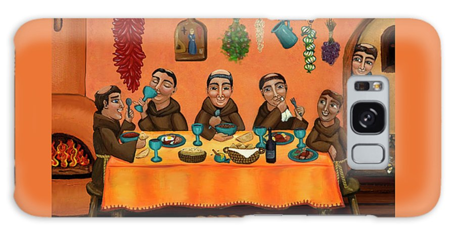 Hispanic Art Galaxy Case featuring the painting San Pascuals Table by Victoria De Almeida