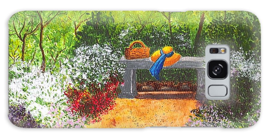 Garden Painting Galaxy Case featuring the painting Sanctuary by Patricia Griffin Brett