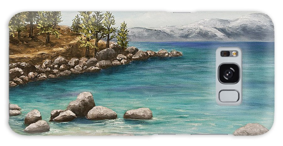 Landscape Galaxy S8 Case featuring the painting Sand Harbor Lake Tahoe by Darice Machel McGuire