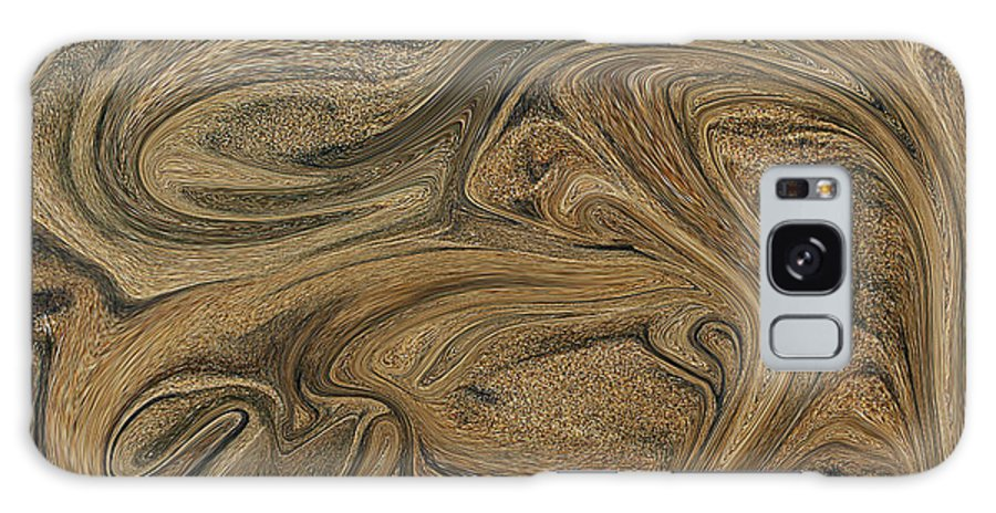 Abstract Galaxy S8 Case featuring the photograph Sand Liquified by Robert Woodward