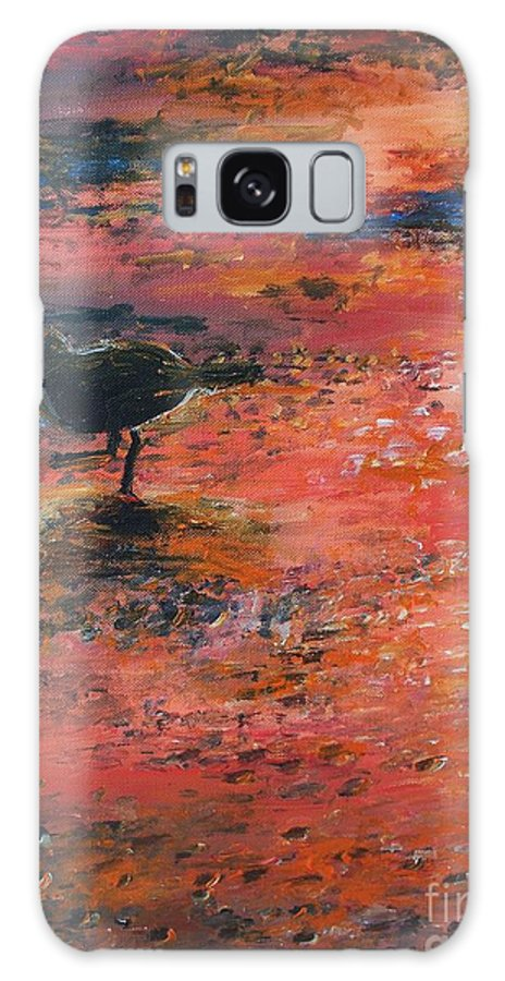 Beach Galaxy S8 Case featuring the painting Sandpiper Cape May by Eric Schiabor