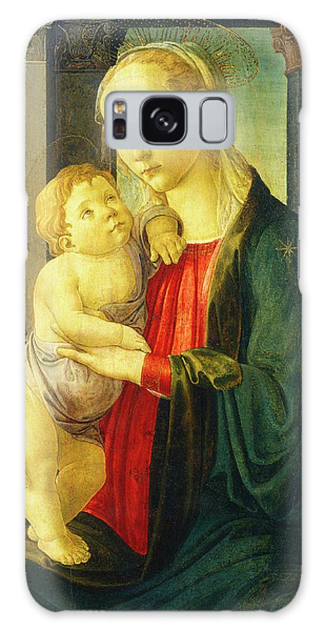 Sandro Galaxy S8 Case featuring the drawing Sandro Botticelli, Madonna And Child, Italian by Quint Lox