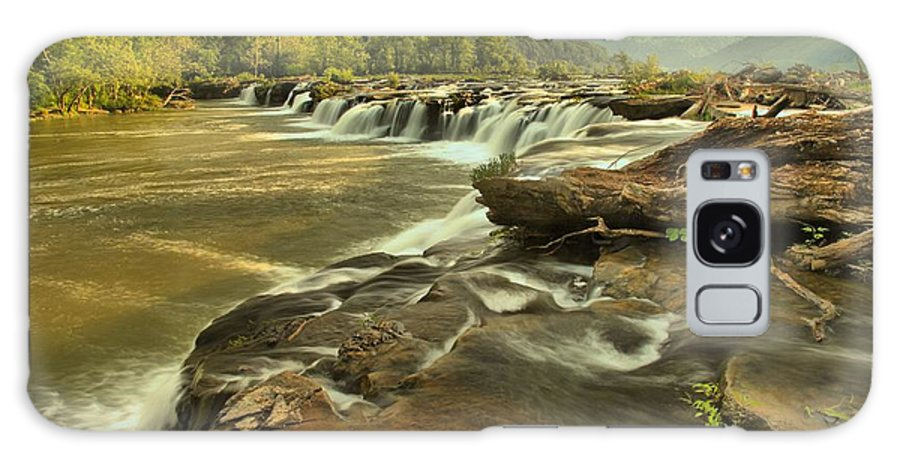 West Virginia Waterfalls Galaxy S8 Case featuring the photograph Sandstone Falls Landscape by Adam Jewell