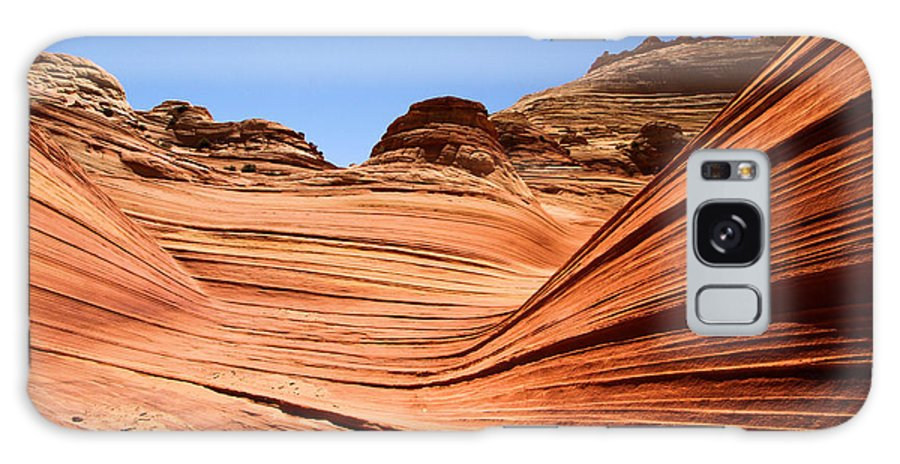 The Wave Galaxy S8 Case featuring the photograph Sandstone Ledge by Adam Jewell