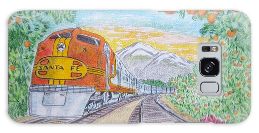 Santa Fe Galaxy S8 Case featuring the painting Santa Fe Super Chief Train by Kathy Marrs Chandler