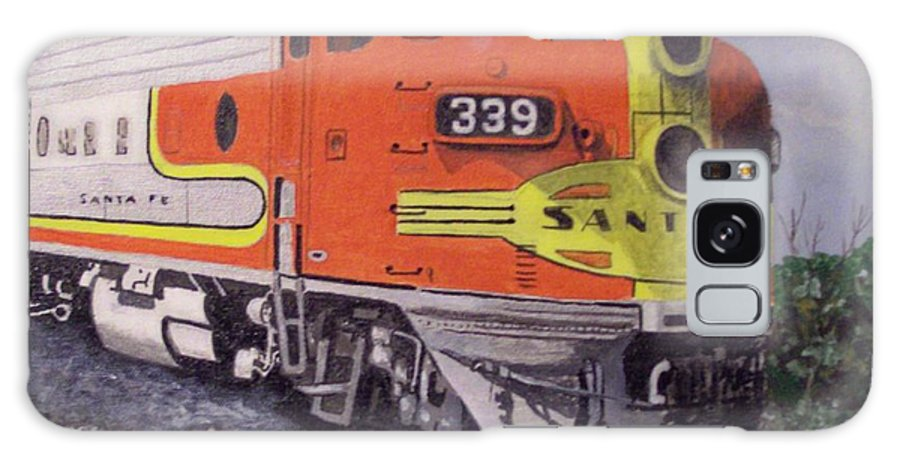 Train Galaxy S8 Case featuring the painting Santa Fe Western by Charlie Brown