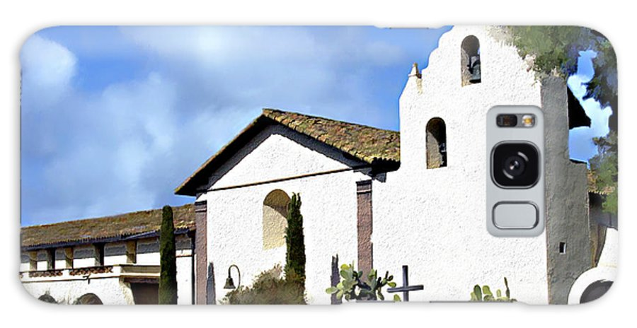 Solvang Galaxy S8 Case featuring the photograph Santa Ynez Mission Solvang California by Kurt Van Wagner