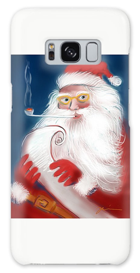 Santa Galaxy S8 Case featuring the painting Santa's List by Jean Pacheco Ravinski