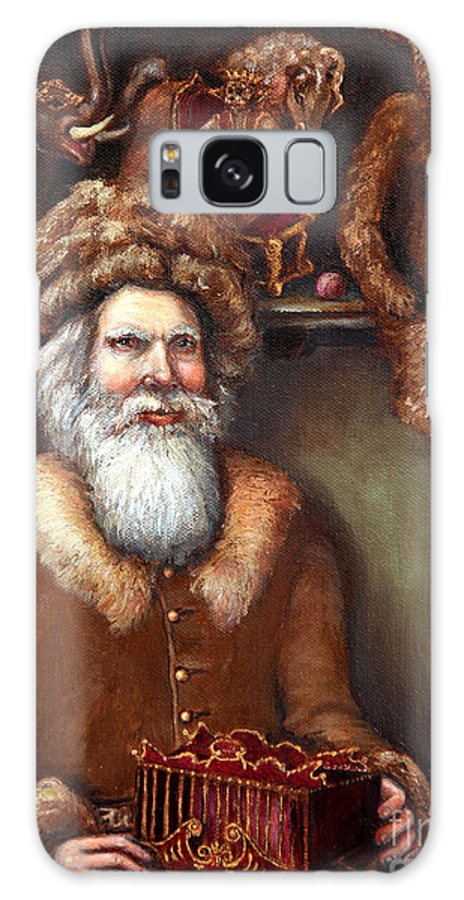 Holiday Art Galaxy S8 Case featuring the painting Santas Special Toys by Portraits By NC