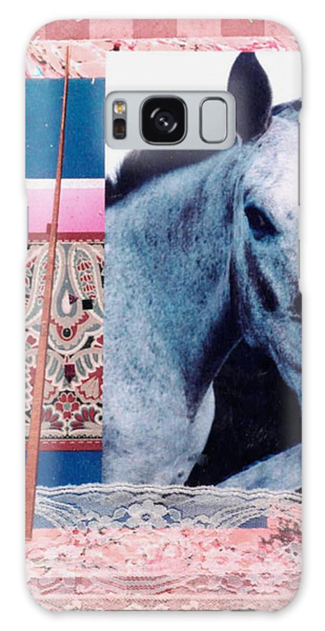 Horse Galaxy S8 Case featuring the mixed media Saturday by Mary Ann Leitch