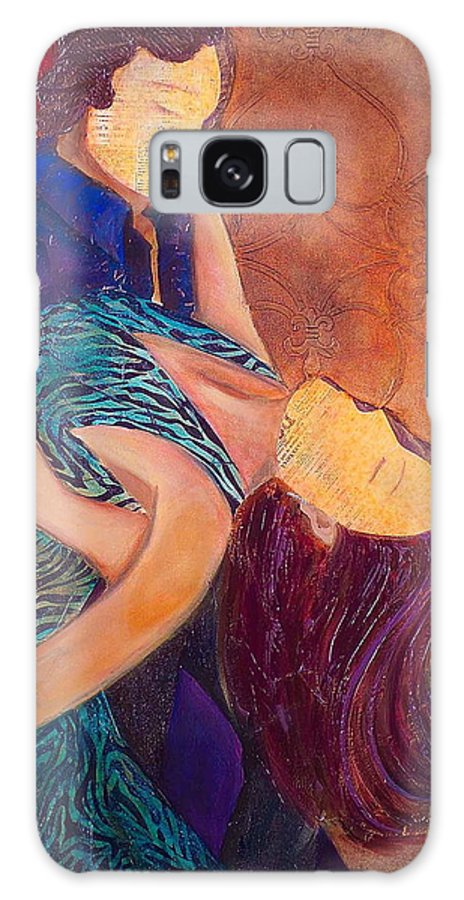 Man Galaxy S8 Case featuring the painting Save The Last Dance by Debi Starr