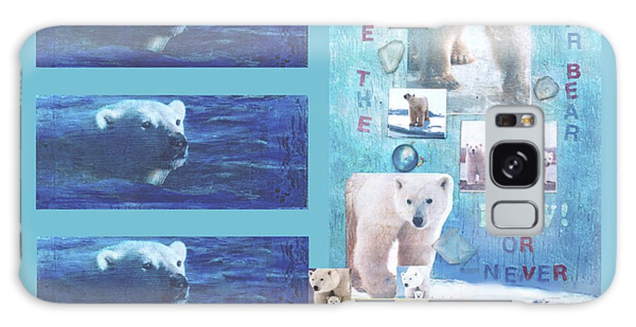 Ecology Galaxy S8 Case featuring the mixed media Save The Polar Bear Now Or Never by Mary Ann Leitch