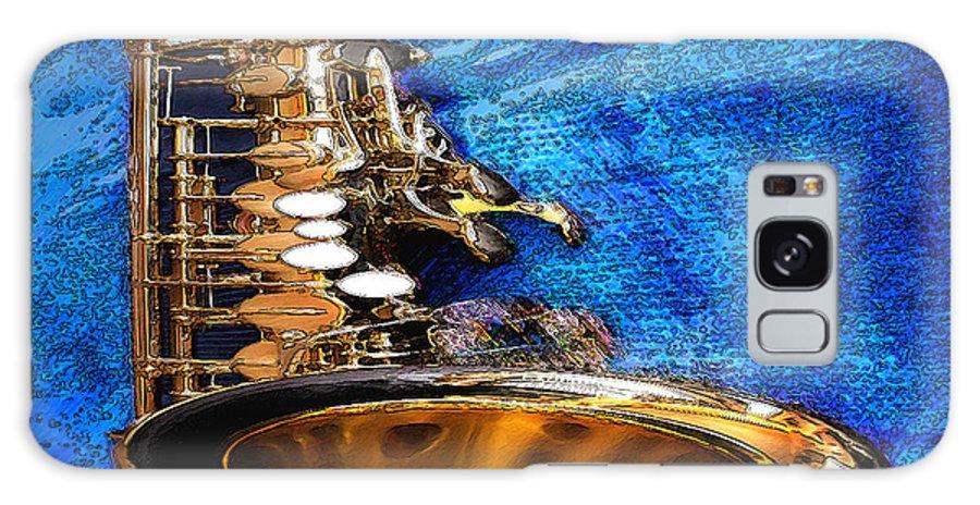 Galaxy S8 Case featuring the digital art Sax by Philip Dammen