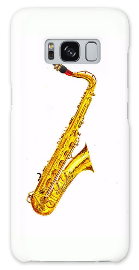 Saxophone Galaxy S8 Case featuring the painting Saxophone by Michael Vigliotti