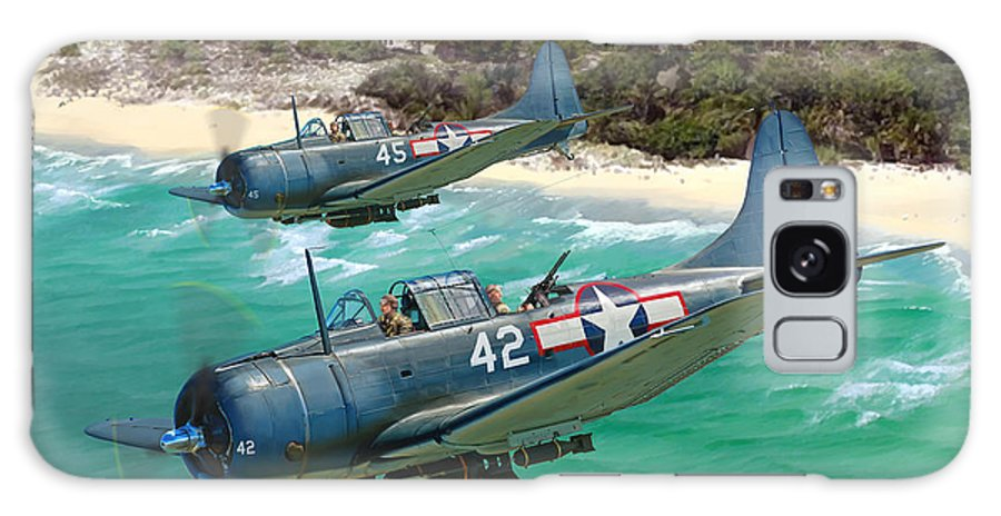 Aviation Galaxy S8 Case featuring the painting Sbd Dauntless by Mark Karvon