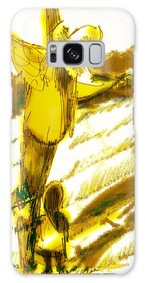 Scarecrow Babysitter Galaxy S8 Case featuring the digital art Scarecrow Babysitter by Seth Weaver