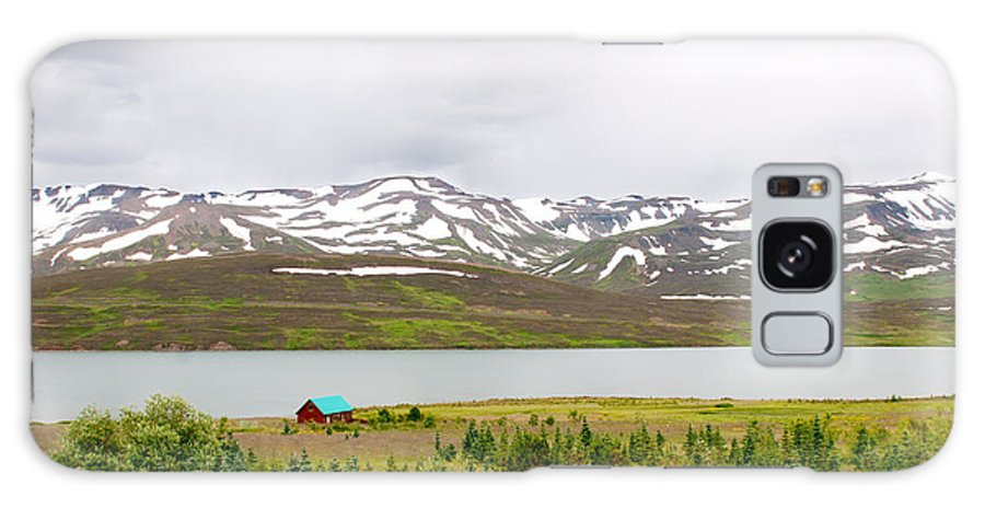 Iceland Galaxy S8 Case featuring the photograph Scenic Landscape In Northern Iceland. by Jackie Follett