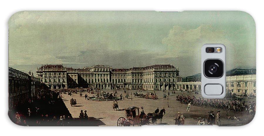 Le Chateau De Schoenbrunn Galaxy S8 Case featuring the photograph Schloss Schonbrunn, 1759-60 Oil On Canvas by Bernardo Bellotto