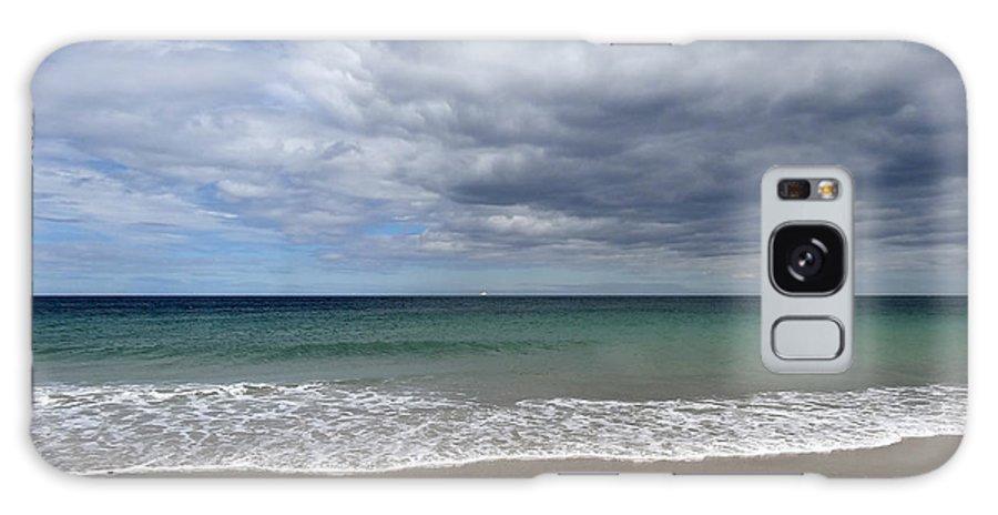Sea Scape Galaxy S8 Case featuring the photograph Schooner Sea Scape by Malcolm Lorente