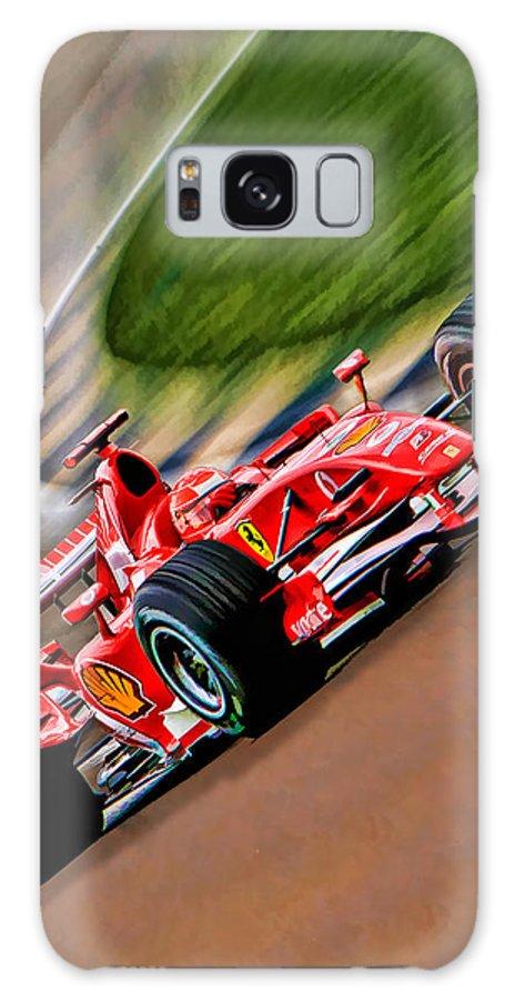 Michael Schumacher Galaxy S8 Case featuring the photograph Schumacher Bend by Blake Richards