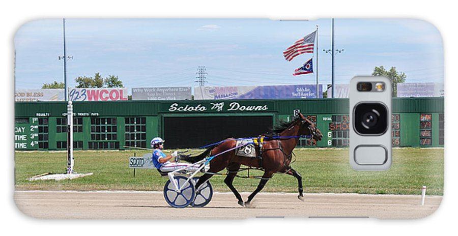 Harness Racing Galaxy S8 Case featuring the photograph D3w-206 Scioto Downs Photo by Ohio Stock Photography
