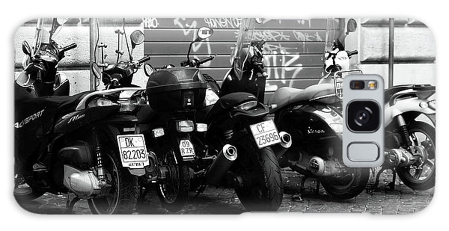 Scooter Plates Galaxy S8 Case featuring the photograph Scooter Plates by John Rizzuto