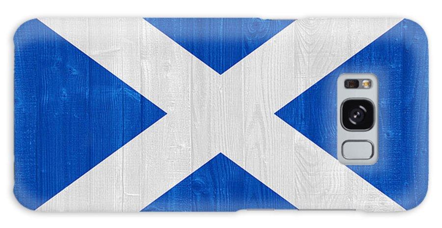 Scotland Galaxy S8 Case featuring the photograph Scotland Flag by Luis Alvarenga