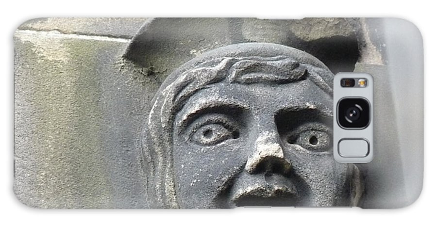 Edinburgh Galaxy S8 Case featuring the photograph Scott Monument Youth Face by Deborah Smolinske