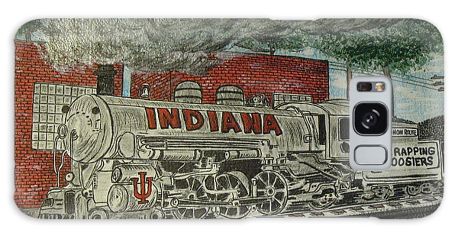 Scrapping Hoosiers Galaxy S8 Case featuring the painting Scrapping Hoosiers Indiana Monon Train by Kathy Marrs Chandler