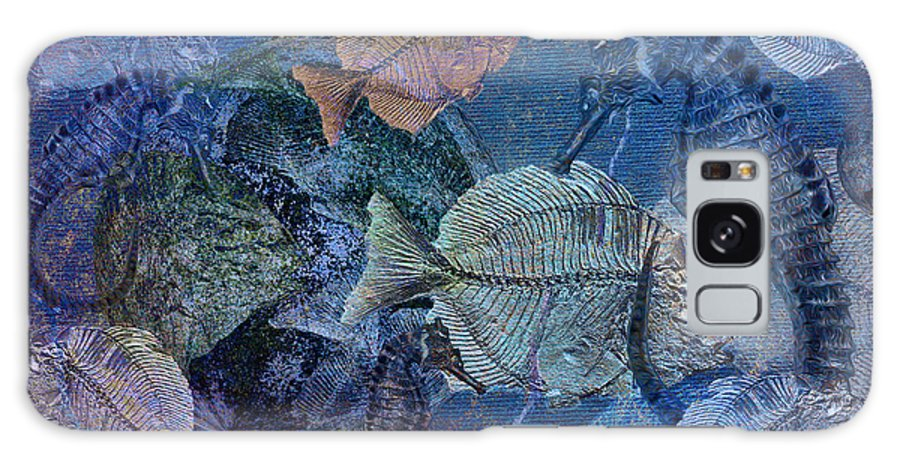 Fish Galaxy S8 Case featuring the digital art Sea Fossil World by Sandra Selle Rodriguez