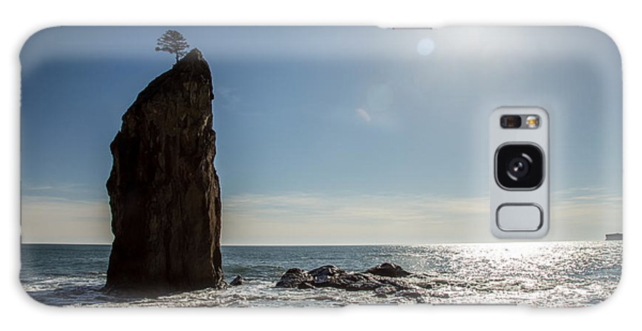 Sea Stacks Galaxy S8 Case featuring the photograph Single Sea Stack In Olympic National Park by Pierre Leclerc Photography