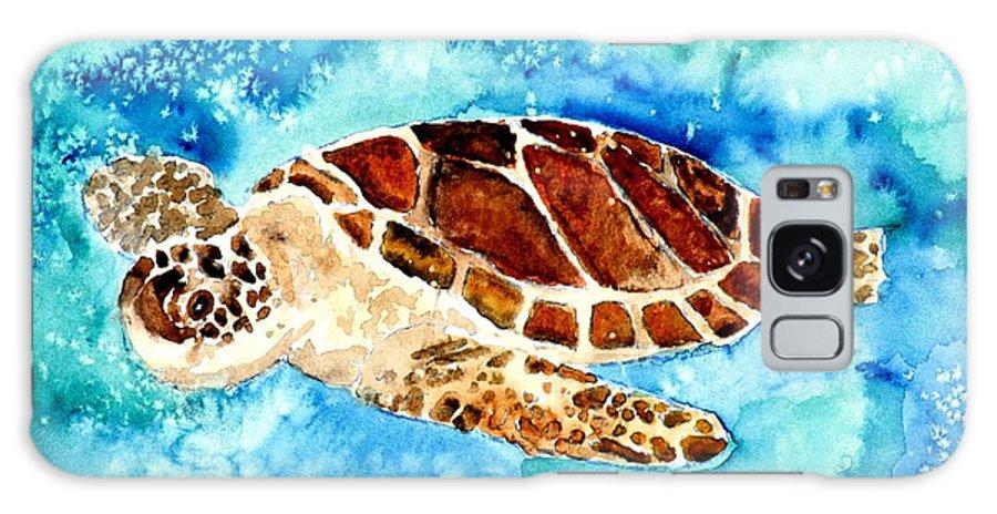 Sea Turtle Galaxy Case featuring the painting Sea Turtle by Derek Mccrea