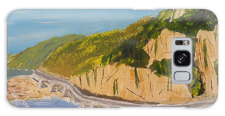 Impressionism Galaxy S8 Case featuring the painting Seacliff Bridge by Pamela Meredith