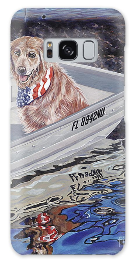 Golden Retriever Galaxy S8 Case featuring the painting Seadog by Danielle Perry