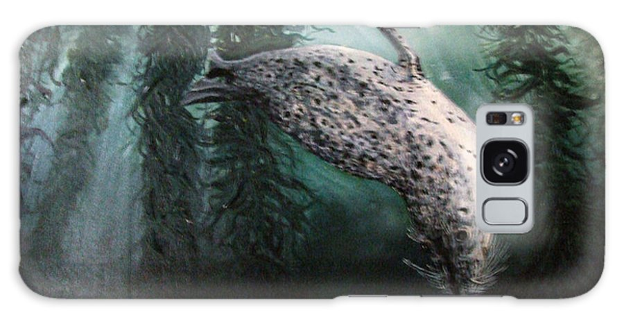 Action Galaxy S8 Case featuring the painting Seal In The Kelp by Mackenzie Moulton