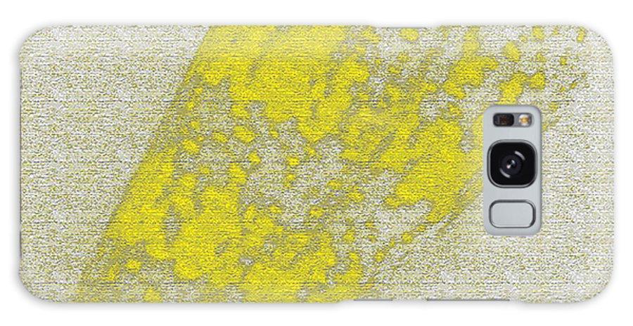Yellow Galaxy S8 Case featuring the digital art Seashell by Carol Lynch